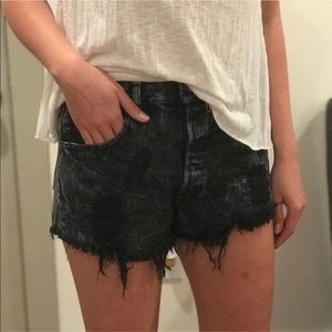 Urban Outfitters Black Frayed Shorts